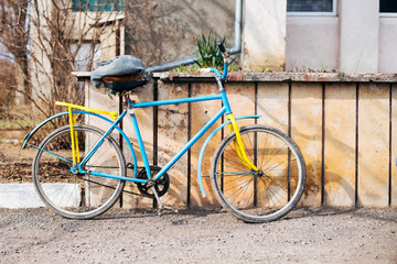 An old bike on which the grandfather goes to work
