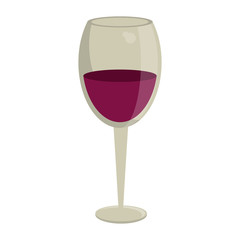 Wine cup drink isolated