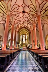 inside the church...