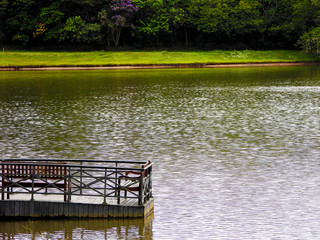 lake deck in the park
