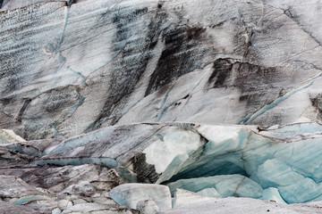 das Eis des Svinafell-Gletschers, Island