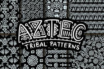 Seamless aztec vector pattern.