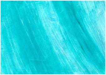 Abstract blue watercolor on white background.The color splashing on the paper