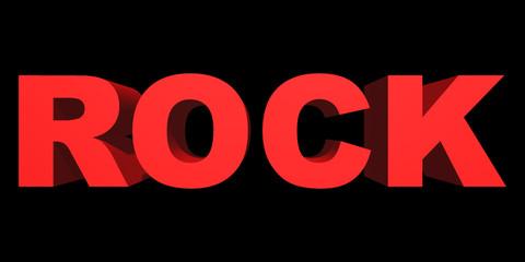 Word rock closeup