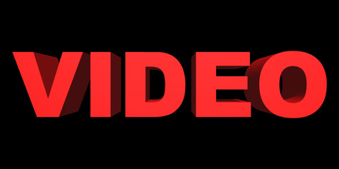 Word video closeup