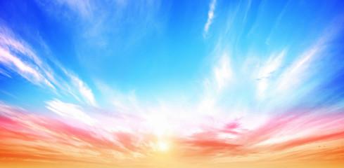 Sunrise summer sky panorama Fototapete