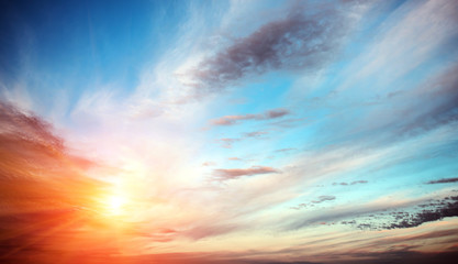 Sunrise summer sky panorama Wall mural