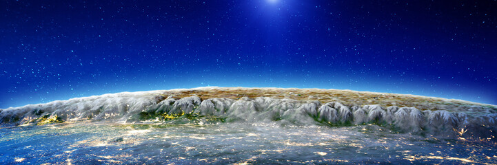 Wall Mural - Himalayas mountains at night