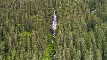 Waterfall Tumultuous (Cascada Zbuciumata). Fagaras Mountains, Romania