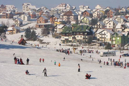 Zlatibor Mountain in Winter, Serbia
