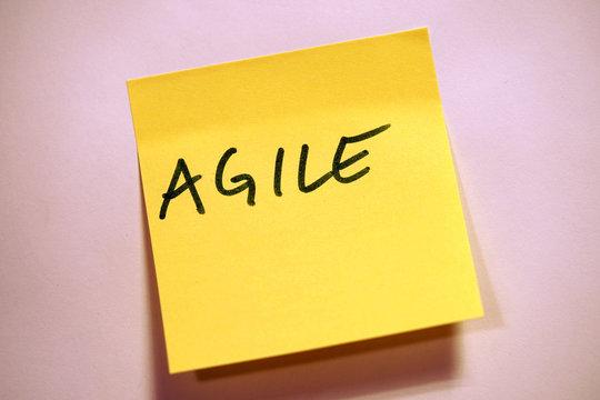 Scrum Agile Klebezettel Agile
