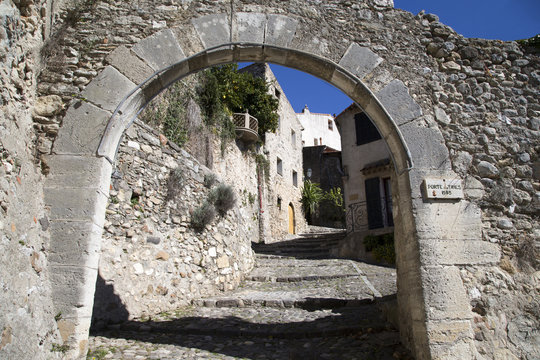 Archway in the French village of Biot on the French Riviera