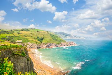 Zumaia coast, Pais Vasco Spain