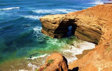 Hiking along Sunset Cliffs in San Diego