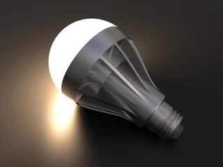 3D render - light bulb reflection