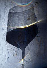 Wine glass shadow