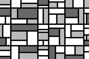 Abstract mosaic pattern grid with random colours