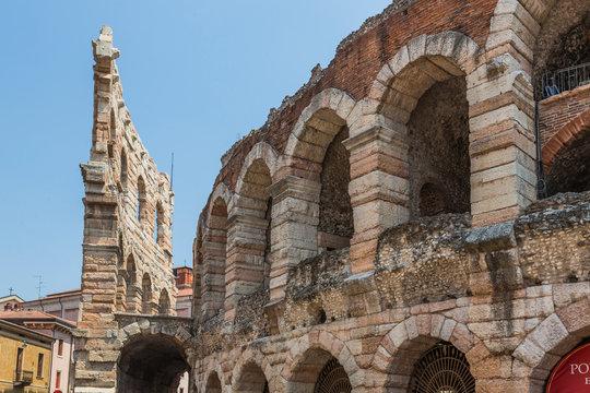 Italy, Veneto, Verona, Piazza Bra, Amphitheatre, Verona Arena