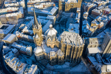 Aachen during Winter