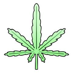 quirky gradient shaded cartoon marijuana