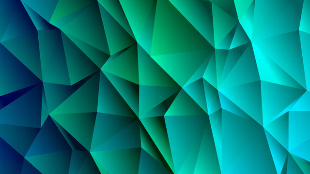 CeruleanTrendy Low Poly Backdrop Design