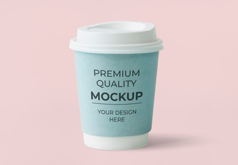 Pastel Blue Paper Cup Mockup