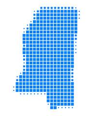 Karte von Mississippi