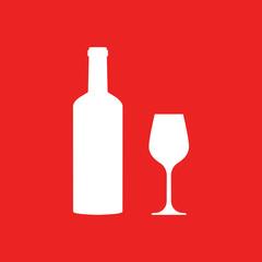 Weinglas und Hintergrund