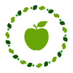 Apfel und Kranz