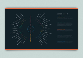Radial Infographic Layout with Dark Background