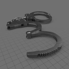 Half open handcuffs
