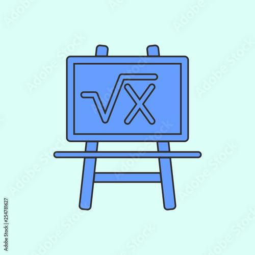 board with formula mono color icon  Simple color vector of