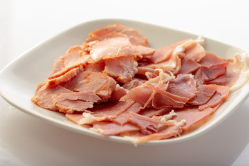 plate with cold meats