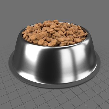 Dog bowl with food 2