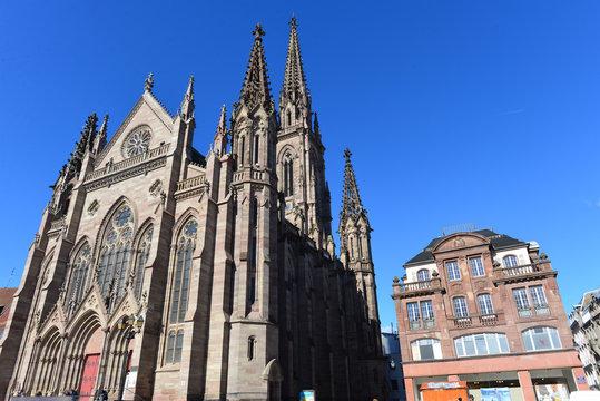 Temple Saint-Étienne in Mülhausen (Mulhouse) Frankreich
