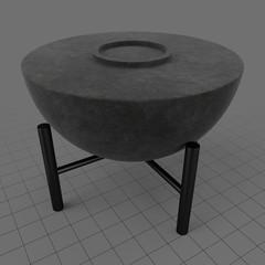 Half sphere table