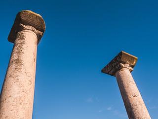 Ancient Greek columns - ancient ruins of Philippi