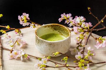 抹茶と茶道  green tea made in Japan