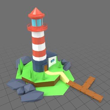 Stylized lighthouse