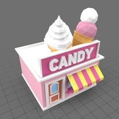 Stylized candy store