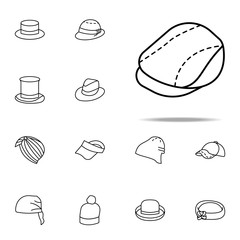 newsboy hat icon. hats icons universal set for web and mobile
