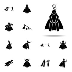 hero, exhausted icon. hero icons universal set for web and mobile