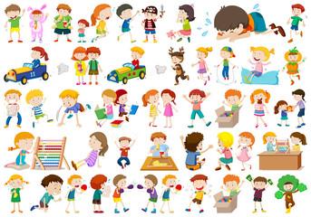 Large set of kids