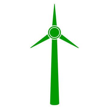 Isolateed windmill icon. Wind power. Vector illustration design