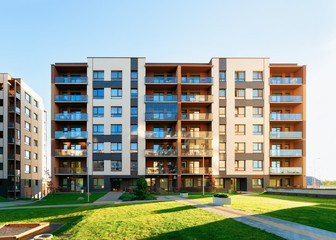 Apartment residential home facade and outdoor facilities Fototapete