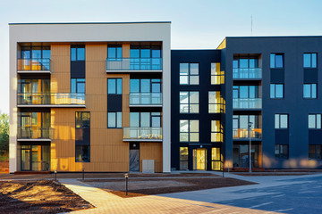 Apartment residential houses facade architecture and outdoor facilities Fototapete