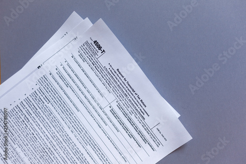 IRS Form 4506-T  Request for Tax Transcript