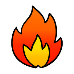 gradient shaded cartoon fire