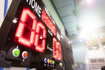 digital score board in sport hall