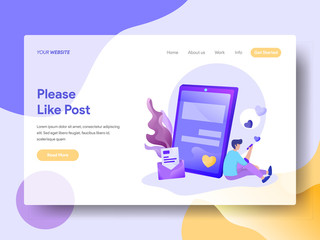 Landing Page Please Like Post